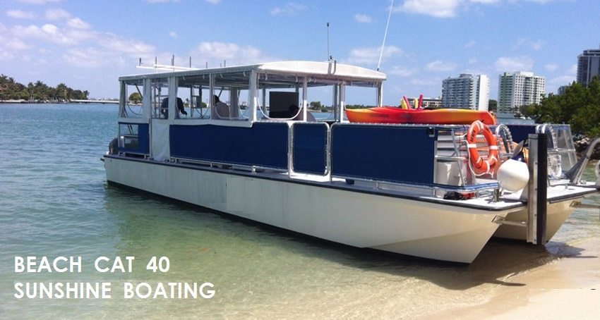 Party boat yacht rental in miami sunshine boating for Miami fishing party boat